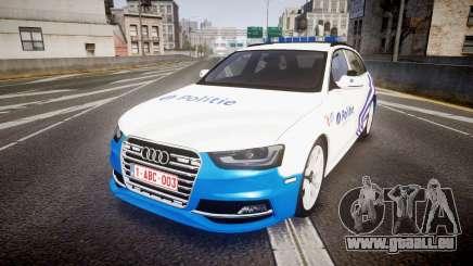 Audi S4 Avant Belgian Police [ELS] pour GTA 4