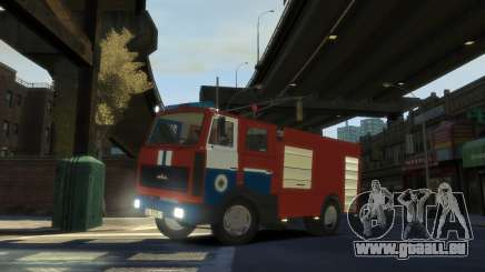 MAZ 533702 le Ministère des situations d'urgence de la Biélorussie pour GTA 4
