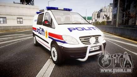 Mercedes-Benz Vito 2014 Norwegian Police [ELS] pour GTA 4