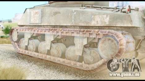 M4 Sherman 75mm Gun Urban pour GTA San Andreas sur la vue arrière gauche