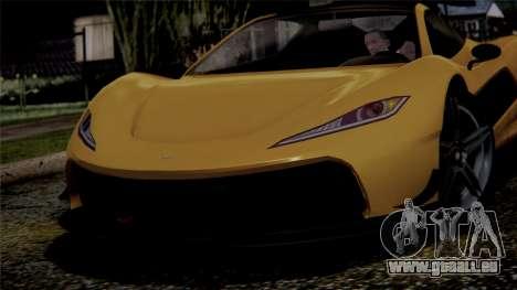 GTA 5 Progen T20 IVF pour GTA San Andreas vue arrière