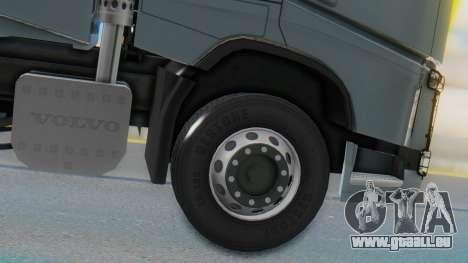 Volvo FH Euro 6 Heavy 8x4 pour GTA San Andreas sur la vue arrière gauche
