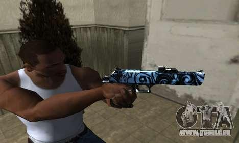 Blue Snow Deagle für GTA San Andreas zweiten Screenshot