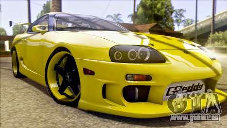 Toyota Supra 1998 E-Design pour GTA San Andreas vue de dessus