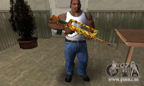 Golden AUG A3 pour GTA San Andreas troisième écran