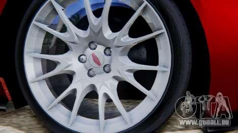 Jaguar XKR-S 2011 Cabrio für GTA San Andreas zurück linke Ansicht