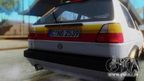 Volkswagen Golf 2 pour GTA San Andreas vue arrière