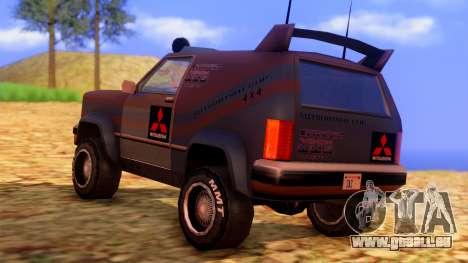Sandking Mitsubishi Cup pour GTA San Andreas laissé vue