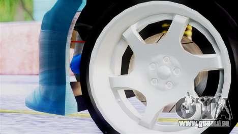 Mazda RX-8 pour GTA San Andreas sur la vue arrière gauche