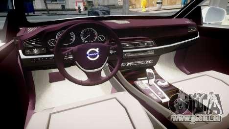 Volvo V70 2014 Unmarked Police [ELS] pour GTA 4 Vue arrière