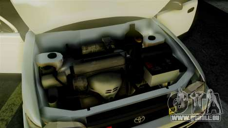 Toyota Corolla pour GTA San Andreas vue intérieure