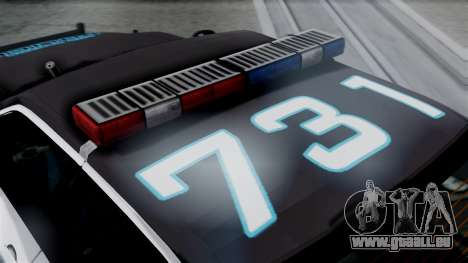 Hunter Citizen Police LS IVF pour GTA San Andreas vue de droite
