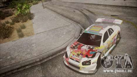 Subaru Impreza 2003 Love Live Muse Team Itasha pour GTA San Andreas vue de côté