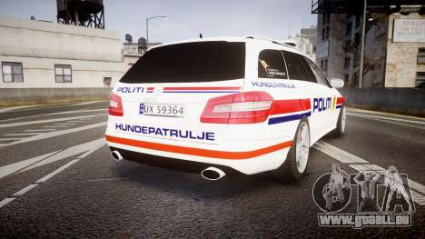 Mercedes-Benz E63 AMG Estate 2012 Police [ELS] pour GTA 4 Vue arrière de la gauche