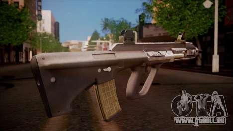 AUG A3 from Battlefield Hardline pour GTA San Andreas deuxième écran