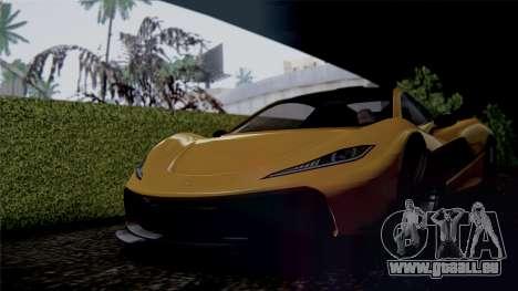 GTA 5 Progen T20 IVF pour GTA San Andreas sur la vue arrière gauche