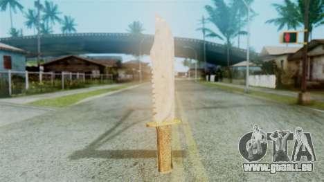 Red Dead Redemption Knife Diego Skin für GTA San Andreas zweiten Screenshot