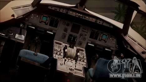 Airbus A320 TAROM Romania pour GTA San Andreas vue arrière