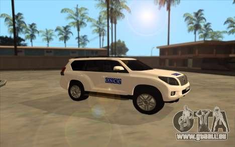 Toyota Land Cruiser OSZE (ОБСЕ) für GTA San Andreas linke Ansicht