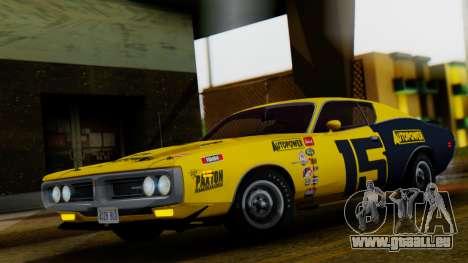 Dodge Charger Super Bee 426 Hemi (WS23) 1971 IVF pour GTA San Andreas vue de dessous