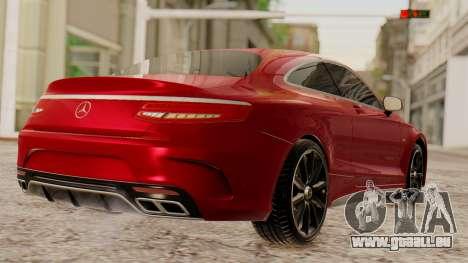 Mercedes-Benz S63 Coupe für GTA San Andreas linke Ansicht