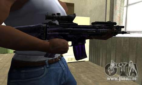 Blue Scan M4 für GTA San Andreas zweiten Screenshot