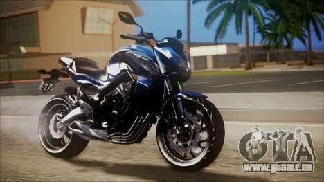 Honda CB650F Azul pour GTA San Andreas