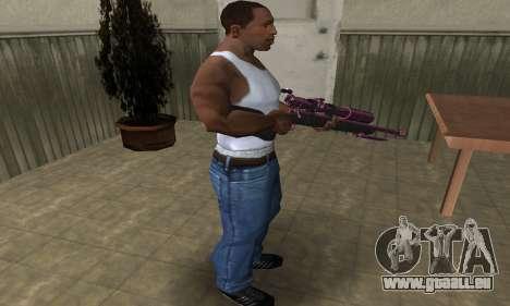 Purple Sniper Rifle pour GTA San Andreas deuxième écran