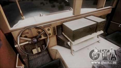 HMMWV Croatian Army ISAF Contigent pour GTA San Andreas vue arrière