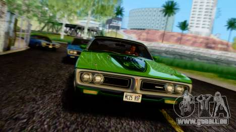Dodge Charger Super Bee 426 Hemi (WS23) 1971 PJ pour GTA San Andreas vue de dessus