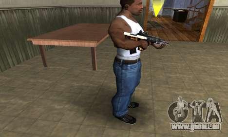 Gold AUG pour GTA San Andreas troisième écran
