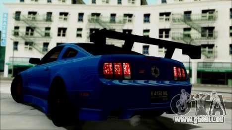 Ford Mustang GT Modification pour GTA San Andreas laissé vue