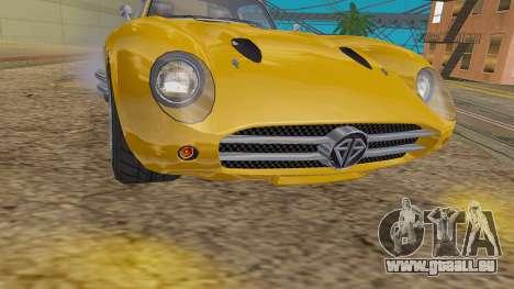 GTA 5 Benefactor Stirling IVF für GTA San Andreas Rückansicht