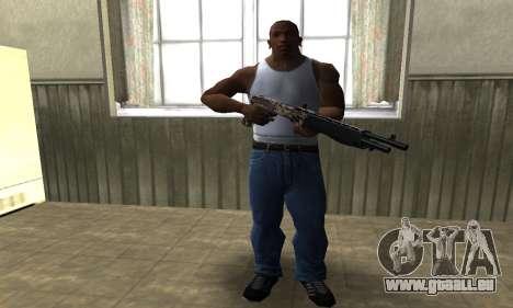 Brown Combat Shotgun pour GTA San Andreas troisième écran