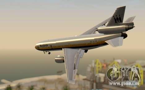 DC-10-30 Monarch Airlines pour GTA San Andreas laissé vue