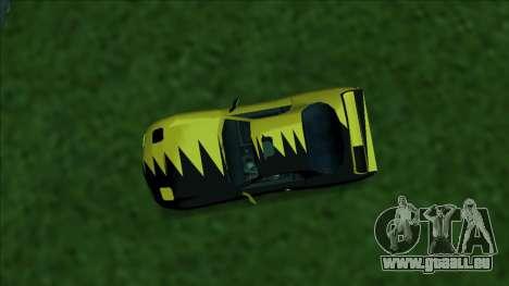 ZR-350 Double Lightning pour GTA San Andreas vue de dessus