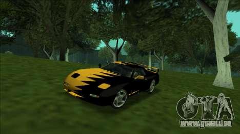 ZR-350 Double Lightning pour GTA San Andreas laissé vue