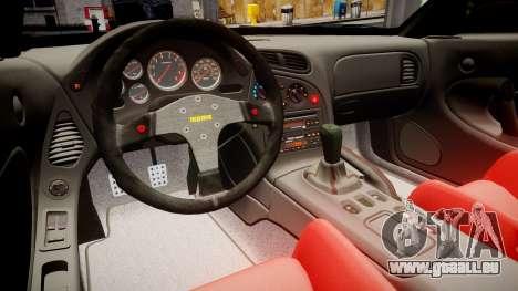 Mazda RX-7 RocketBunny [EPM] pour GTA 4 Vue arrière