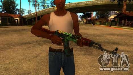 AK-47 Fire Serpent für GTA San Andreas