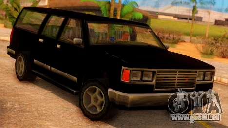 FBI 4-door Yosemite für GTA San Andreas Rückansicht