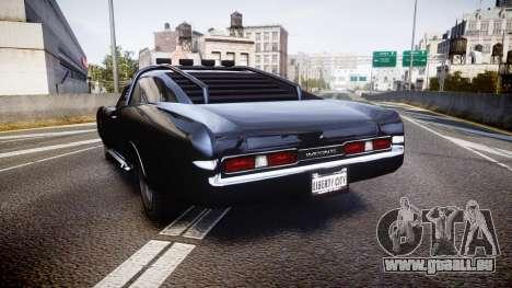 GTA V Imponte Duke O Death [HD Interior] pour GTA 4 Vue arrière de la gauche