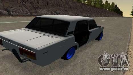 VAZ 2105 BC v1.0 pour GTA San Andreas sur la vue arrière gauche