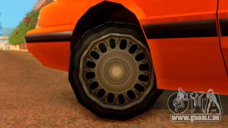 Taxi Intruder pour GTA San Andreas sur la vue arrière gauche