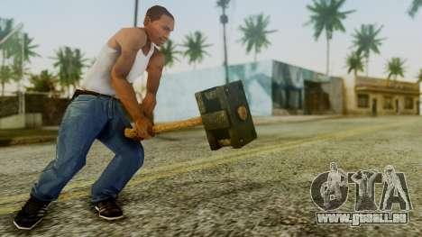 Bogeyman Hammer from Silent Hill Downpour v1 pour GTA San Andreas troisième écran
