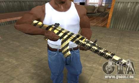 Gold Lines AK-47 pour GTA San Andreas