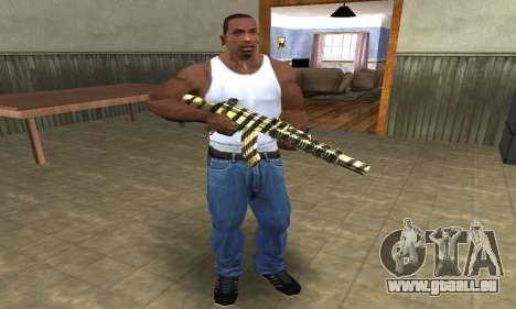 Gold Lines AK-47 pour GTA San Andreas troisième écran