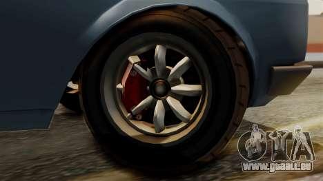 Vulcar Warrener GT 1500 (CT1) pour GTA San Andreas sur la vue arrière gauche