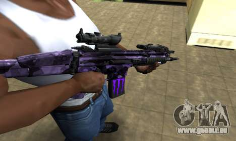 Blue Scan M4 pour GTA San Andreas