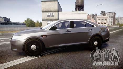 Ford Taurus 2010 Unmarked Police [ELS] pour GTA 4 est une gauche
