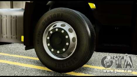 Mercedes-Benz Actros MP4 6x4 Exclucive Interior pour GTA San Andreas sur la vue arrière gauche